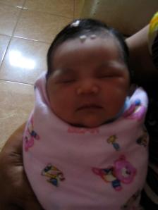 Tiara, 1 dag oud