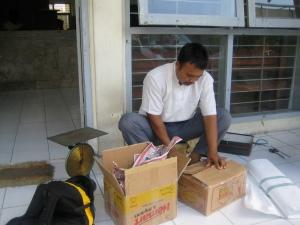 Service bij het postkantoor