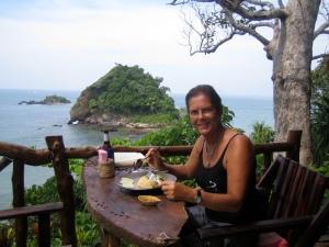 Restaurant met uitzicht op het kleine noord-westelijke schiereiland. Bellisimo!