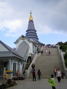 'Haar' pagoda aan de buitenkant