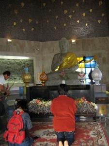 'Zijn' pagoda aan de binnenkant